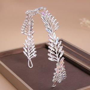 Ab Ailibride Strass Hochzeit Stirnband Tiara Kristall Braut Kopfschmuck Ornaments Silber-Farben-Haarband Frauen Haarschmuck Mtw8