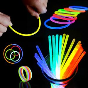 20CM Glow Stick Multi Color Bracelet Glow Bracelets Mixed Colors Party Favors Supplies Light-up Toys WB2886