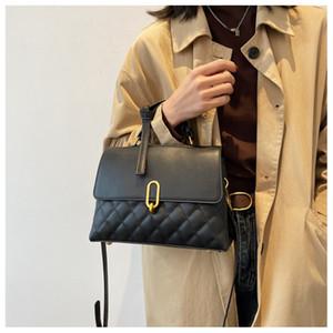 HBP Lattice Square Tote bag 2021 Fashion New High-quality PU Leather Women's Designer Handbag High capacity Shoulder Messenger Bag