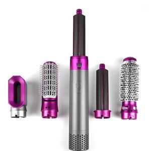 Профессиональная фен для волос для волос Щетка электрический выдувной сушилки фена стилер 5 в 1 горячий воздушный кусок бигуди керлинг Iron1