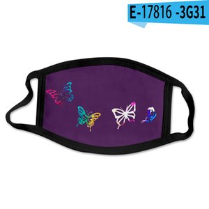 Butterfly pattern 3D printing Designer face mask with cotton reusable face masks Out Door Sport Riding Masks Fashion Designer Mask ZZC4612