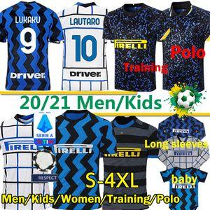 20 21 Inter Milan Lukaku Lautaro Alexis Sensi Barella Sanchez Treinamento de futebol Jerseys Vidal Men Kids Polo Calças Uomini Bambini Uniformes