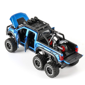 FORD F150 1:28 off-road vehicle metal toy car diecast pull back car model collection ornaments children 1 28 cars birthday gift X0102