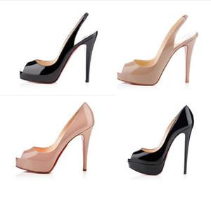 Mode Frauen öffnen Zehe Schuhe High Heels Rote Sohle Schuhe so kate Stil 8cm 10cm 12cm Runde spitzen Zehen Pumpen Böden Kleid Turnschuhe