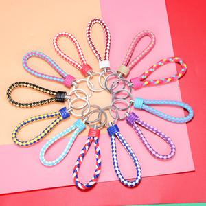 Keychain di cuoio tessuto a mano creativo di alta qualità Keychain maschio femminile coppia car sacchetto del ciondolo piccolo regalo confezionato singolarmente GWE4327
