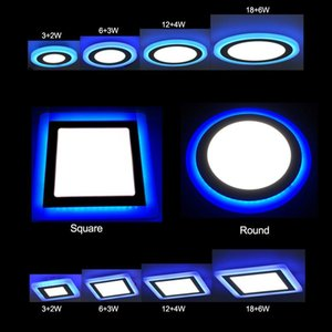 Double Color Led Panel Light 5w 9w 16w 24w Round Square Panel Led Ceiling Lamp Ac110v 220v Indoor Recessed Downlight Swy wmttQA hx_pack
