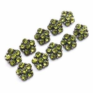 6 colori 10pcs lot crystal 12mm metallo scatto bottone per braccialetto da donna in metallo snap orecchini gioielli h bbyekg
