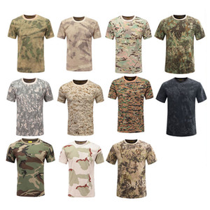 Outdoor Woodland Hunting Shooting Shirt Battle Dress Uniform Tactical BDU Army Combat Clothing Cotton Camouflage T-Shirt NO05-104