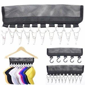 Door Back Coat Cap Rack Baseball Hat Visors Wall Door Hanger Holder Underwear Socks Hook Clip Storage Organizer Clothespins Dfdwp