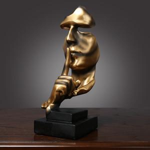 3 colores artesanías creativas silencio es oro arte artesanal decoraciones retro sala de estar sala de café decoración de oficinas