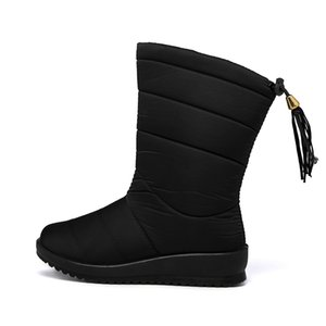 Winter Boots Women Winter Shoes Mid-Calf Snow Boots Wedges Warm Fur Female Boots Shoes Woman Footwear Chaussures 201023