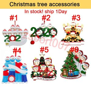 Christmas tree accessories Ornament DIY Greetings Quarantine Christmas Birthday Party Pandemic Social Distancing Christmas Tree Pendant