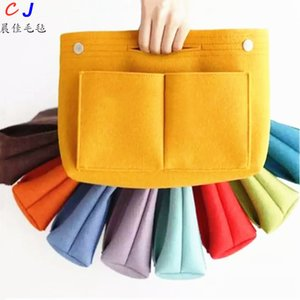 Make up Organizer Felt Insert Bag For Handbag Travel Inner Purse Portable Cosmetic Bags Fit Various Brand Bags.