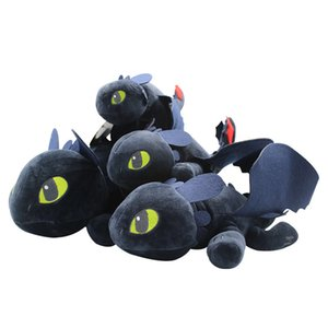 Promotional Toys 25cm How to Train Your Dragon Toothless Plush Toys Soft Skin Dolls For New Year Gift