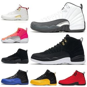Top Sports Shoes 12 Dark Grey gioco Royal Basket Scarpe 12s Reverse Taxi Wings Mens Trainer Sneakers sportivi 7-13