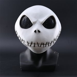 New Nightmare Before Christmas Jack Skellington der weißen Latex-Film Cosplay Props Halloween-Party-Bösartige Horror-Maske