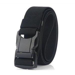 Exército Nylon Belt liga de alumínio Segurança Buckle Outdoor Caça Escalada Tactical Belt Elastic tecido cintura
