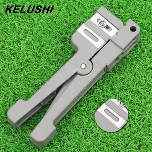 KELUSHI 45-162 3 5 Coaxial Cable Stripper Fiber Optic Wire Stripper Transverse Beam Tube Open and Stripping Knife Loose Casing