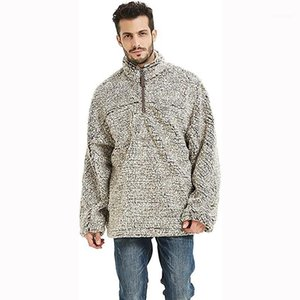 Fjun 2021 Hiver FLEXE SHERPA Pull Sweater Pull à manches longues Pulls occasionnels Fashion Sweater Coat Homme Vêtements 20211