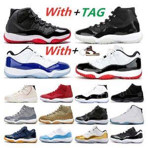 Box 2021 높은 탑 스니커즈 망 농구 신발 11s 회색 흰색 뱀 피부 체육관 스니커즈 남자 신발 낮은 트레이너 크기 US7-US13