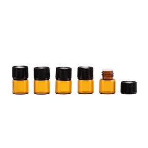 2017 NEW 1мл Духи Amber Мини стеклянная бутылка, 1СС Янтарный образец колба, Малый Эфирное масло бутылки цена завода DHD2940