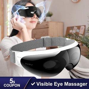 Anlan Visual Smart masajeador Compresión del aire caliente sin hilos 42 Libere la batería grande fatiga de los ojos Gafas de Masaje