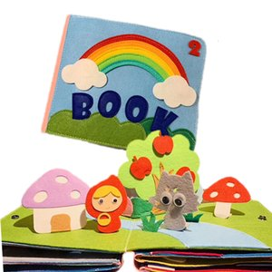 Rainbow 3D Baby Practical Hand Early Learning Education Quiet Soft Washing Developed Parent-child Interaction Book