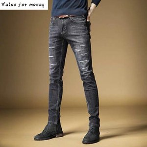 Fashion Style Italian Mens Jeans High Quality Slim Fit White Wash Light Blue Color Denim Jeans Men Classic Buttons Pants