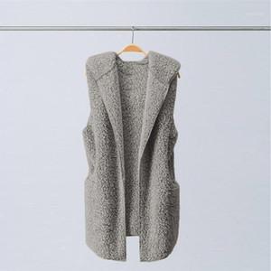 Womens Vest Winter Warm Hoodie Outwear Casual Coat Chaleco Flecos Faux Fur Zip Up Sherpa Jacket Womens Vest1