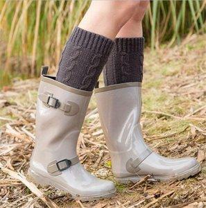 Winter warm woolen Christmas Medium floor Leggings set foot home twist Knitted Boot socks 7 color boutique OWF3687