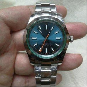 Лучшие роскоши Menes Watch Exp Air King Series Black 40mm циферблат автоматическое механическое движение 316 Стальные брусьте дизайнерские часы