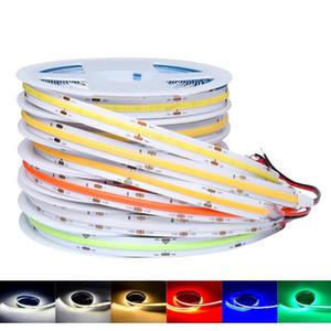 DC12V DC24 COB LED Strip Light 10mm High Density Flexible Tape Light Dimmable FOB Linear Ribbon Red Green Blue 3000K 4000K 6000K