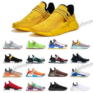 Adidas boost Yeni Gelenler Human Race NMD Koşu ayakkabıları Pharrell Williams Parlak Sarı Ekstra Göz Çikolata Nerd siyah Açık Spor Ayakkabılar