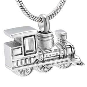 LKJ10001 nueva llegada del mini tren de ceniza humana Titular del recuerdo de la urna collar del acero inoxidable de la cremación joyería Hombres Mujeres