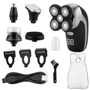 5 In 1 Men Electric Shaver Nose Trimmer Rechargeable Electric Razor Shaving Machine Beard Trimmer Face Cleaning Brush