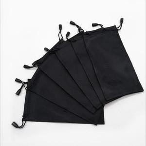 Schwarz-Speicher-Beutel ziehen Typ Sonnenbrille Tasche Reinigung Sonnenbrille-Beutel-Kasten-Brillen Box Bag Gläser Zubehör LSK1960