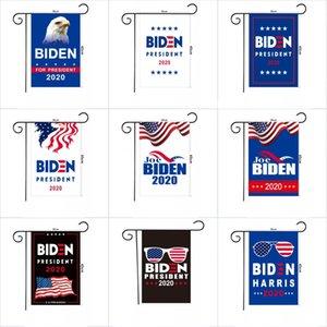 OWL Shipping 2020 Biden Election Garden Flag Presidential Campaign Flags Double Sided Banner 30*45cm Garden Decorations OWD1304
