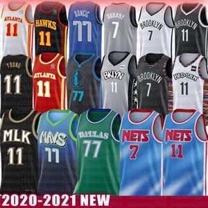 Kevin Kyrie Irving Luka Durant Trae Doncic Jovem Basketball Jersey Porzingis Dallas