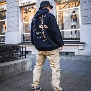 Herbst travis neuen gleicher Stil Männer und Frauen mit Kapuze lose Pullover lässig mit langen Ärmeln Trend Wild