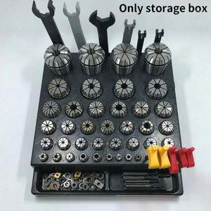 Collecte de coupe pour la clé CNC Inserts de stockage Boîte de rangement Pièces de support durable Pièces de stand Collet Chuck Milling Tool Tool Organizer1