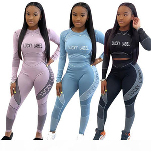 Fall Clothes 2 Piece Sets Womens Outfits Long Sleeve Top and Pants Gym Set Lucky Label Tracksuit Set Bulk Items Wholesale Lots