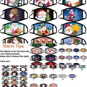 Лицо рождественские взрослые калисовая маска против тумана моющиеся хлопчатобумажные маски цвет рождественские маски мультфильм маска партии маски модный дизайн FA