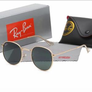 2020 Ray Marka Polarize Güneş Gözlüğü Erkek / Bayan Pilot Güneş UV400 Gözlük Aviator Ban Sürücü kutu 347 ile Metal Çerçeve Polaroid Lens Yasakladı