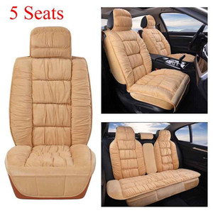 Plush Car Seat Cover Universal Winter Warm Cushion 5 Seat SUV Sedans Front and Rear Back with Backrest Car Protector Pad