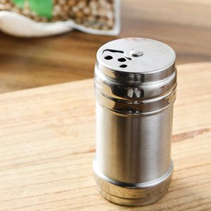 200pcs  Lot Stainless Steel Spice Shaker Pepper Salt Bottles Condiment Container Kitchen Tool Seasoning Container Lx8871