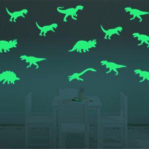 no brilho do Dinosaurs escuro / borboleta / lua / universo / dolphin / notas musicais Brinquedos Adesivos de teto Decal bebê Kid Quarto Ttld