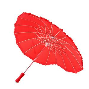 1шт Red Heart Shape 16 Ребро Peach Складная Солнечный и дождливый Зонтик для женщин Свадьба yxlJZd mx_home
