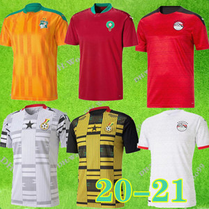 2020 2021 EGIPTO M.SALAH 10 # SALAH Costa de Marfil, Ghana, Marruecos Fútbol 20 21 Marruecos hogar lejos camiseta de fútbol CAMISAS