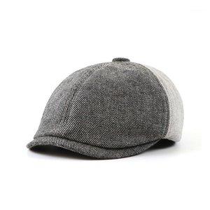 Jamont Men Berets Hat Otoño Vintage Herringbone Octagon Cap Femenino Casual Pumpkin Hat Gatsby Flat Boinet Hats1