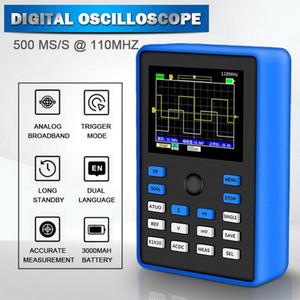 الذبذبات الرقمية الذبذبات 500ms / S معدل أخذ العينات 110 ميجا هرتز النطاق الترددي التناظرية دعم المخزن الموجي